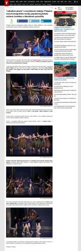 0306 - telegraf.rs - Labudovo jezero u osvezenom izdanju- Potpuno nova koreografska verzija popularnog baleta veceras izvedena u Narodnom pozoristu