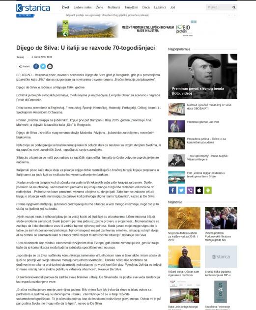 0403 - krstarica.com - Dijego de Silva- U italiji se razvode 70-togodisnjaci