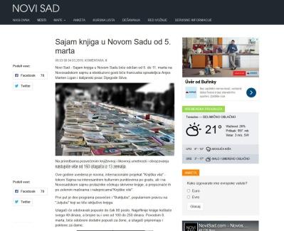 0403 - novisad.com - Sajam knjiga u Novom Sadu od 5. marta
