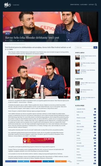 0406 - gle.co.rs - Ravno Selo ceka filmske debitante treci put
