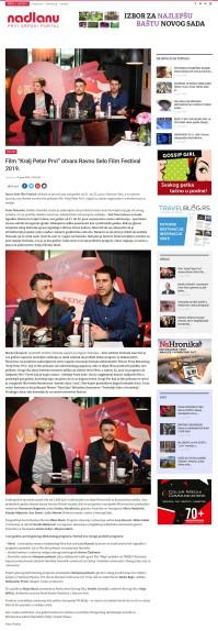 0406 - nadlanu.com - Film Kralj Petar Prvi otvara Ravno Selo Film Festival 2019