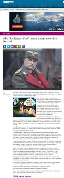 0406 - nezavisne.com - Film Kralj petar Prvi otvara Ravno Selo Film Festival