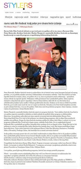 0406 - style.rs - RAVNO SELO FILM FESTIVAL- Kralj Petar Prvi otvara trece izdanje