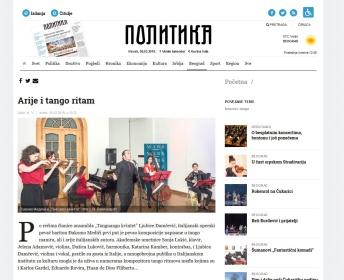 0503 - politika.rs - Arije i tango ritam