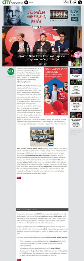 0506 - citymagazine.rs - Ravno Selo Film Festival najavio program treceg izdanja