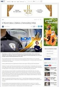 0603 - rs.n1info.com - U Novom danu o Zakonu o komunalnoj miliciji