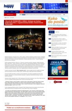 0702 - happytv.tv - ITALIJA SE PROMOVISE U SRBIJI- Ocekuje nas festival italijanskog filma u Jugoslovenskoj kinoteci, koncert Erosa Ramacotija