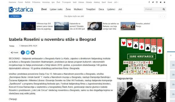 0702 - krstarica.com - Izabela Roselini u novembru stize u Beograd