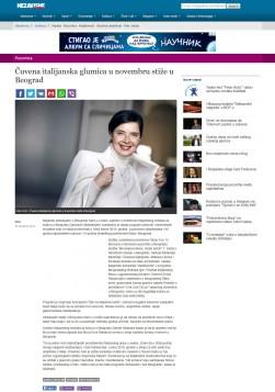 0702 - nezavisne.com - Cuvena italijanska glumica u novembru stize u Beograd