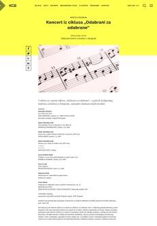 0804 - kcb.org.rs - Koncert iz ciklusa Odabrani za odabrane