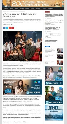 1206 - in4s.net - U Novom Sadu od 14. do 21. juna prvi festival opere