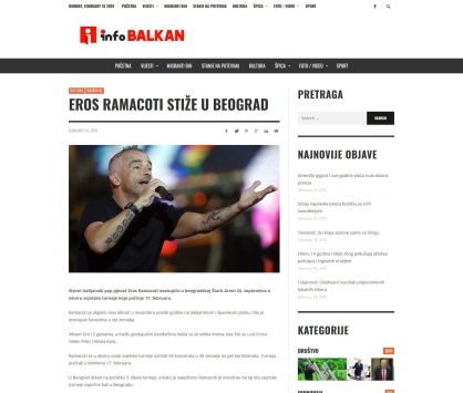 1402 - infobalkan.org - Eros Ramacoti stize u Beograd