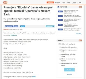 1406 - 021.rs - Premijera Rigoleta danas otvara prvi operski festival Operaria u Novom Sadu