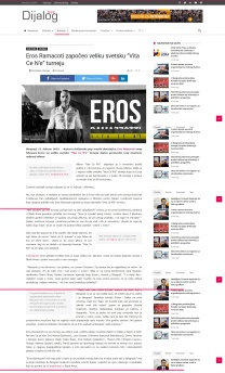 1502 - dijalog.net - Eros Ramacoti zapoceo veliku svetsku Vita Ce N'e turneju