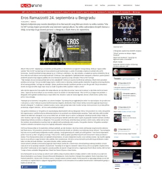 1502 - kcnonline.rs - Eros Ramazzotti 24. septembra u Beogradu