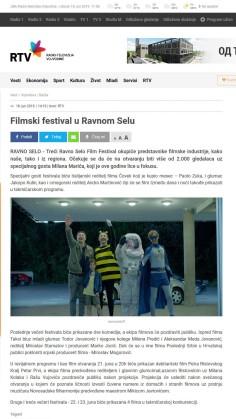 1806 - rtv.rs - Filmski festival u Ravnom Selu