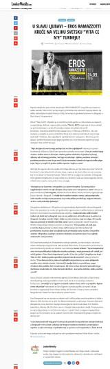 2002 - lookerweekly.com - U SLAVU LJUBAVI GÇô EROS RAMAZZOTTI KRE-åE NA VELIKU SVETSKU GÇ£VITA CE NGÇÖEGÇ¥ TURNEJU!