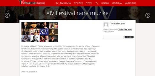 2005 - turistickikanal.net - XIV Festival rane muzike