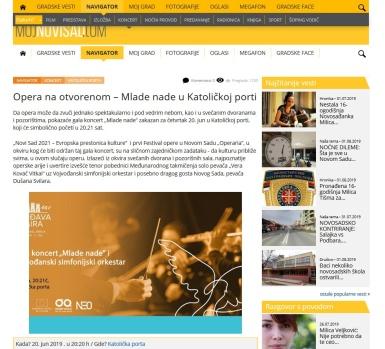 2006 - mojnovisad.com - Opera na otvorenom - Mlade nade u Katolickoj porti