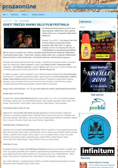 2006 - prozaonline.com - GOSTI TRECEG RAVNO SELO FILM FESTIVALA