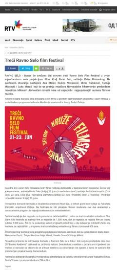 2106 - rtv.rs - Treci Ravno Selo film festival