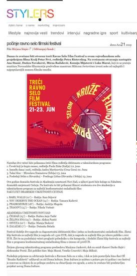 2106 - style.rs - Pocinje Ravno selo filmski festival