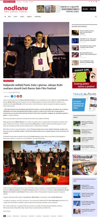 2206 - nadlanu.com - Italijanski reditelj Paolo Zuka i glumac Jakopo Kulin svecano otvorili treci Ravno Selo Film Festival