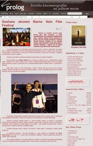 2206 - prolog.rs - Svecano otvoren Ravno Selo Film Festival