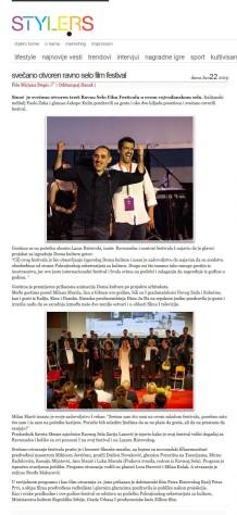 2206 - style.rs - Svecano otvoren Ravno Selo Film Festival