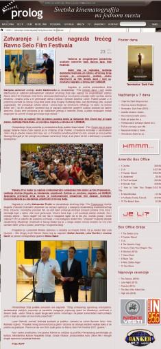 2306 - prolog.rs - Zatvaranje i dodela nagrada treceg Ravno Selo Film Festival