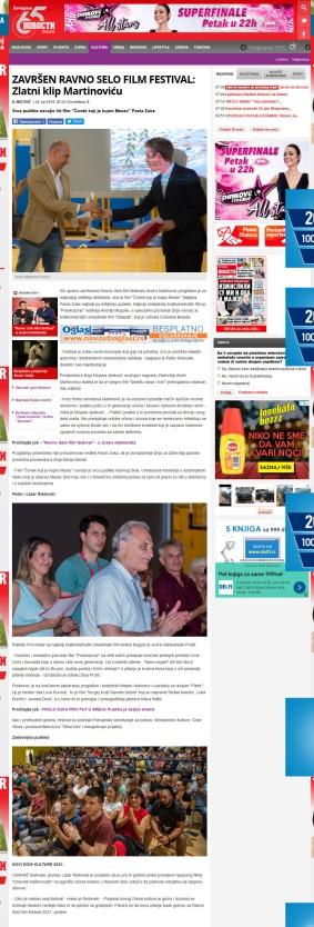 2406 - novosti.rs - ZAVRSEN RAVNO SELO FILM FESTIVAL- Zlatni klip Martinovicu