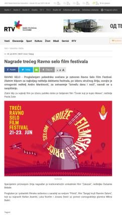 2406 - rtv.rs - Nagrade treceg Ravno selo film festivala