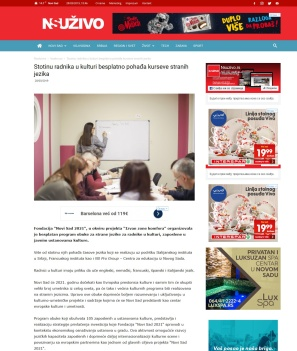 2803 - nsuzivo.rs - Stotinu radnika u kulturi besplatno pohadja kurseve stranih jezika