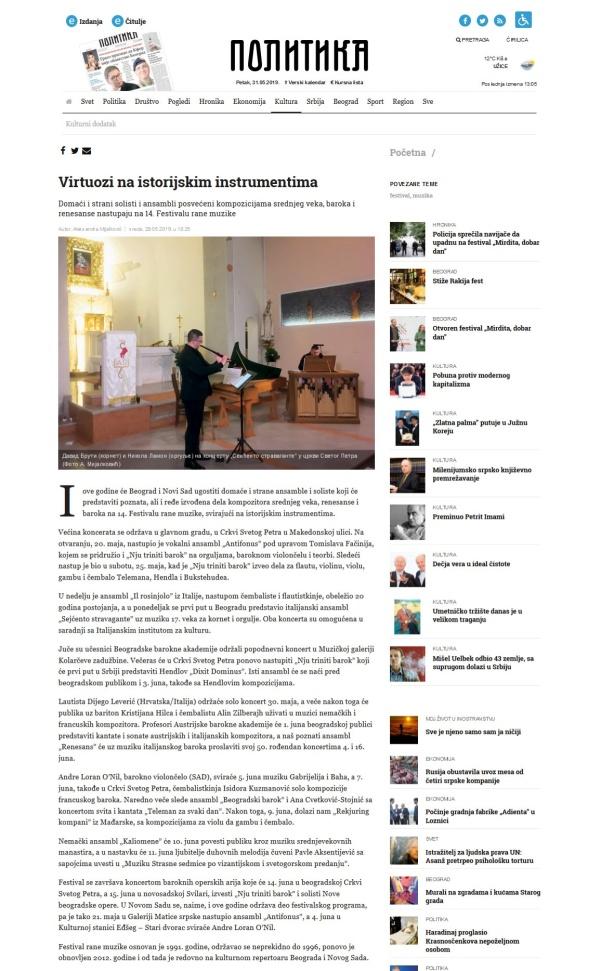 2905 - politika.rs - Virtuozi na istorijskim instrumentima