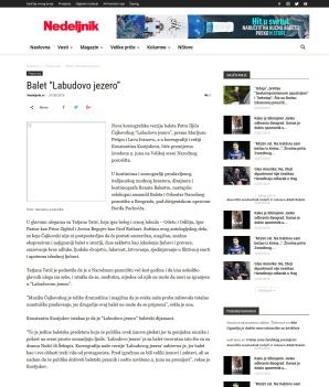 3105 - nedeljnik.rs - Balet Labudovo jezero
