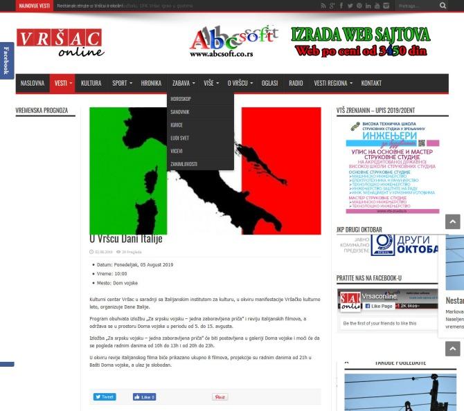 0208 - vrsaconline.com - U Vrscu Dani Italije Lokalni internet portal grada Vrsca