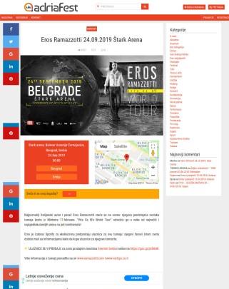 1908 - adriafest.com - Eros Ramazzotti 24.09.2019 Stark Arena