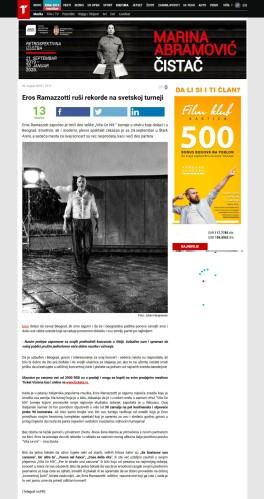 3008 - telegraf.rs - Eros Ramazzotti rusi rekorde na svetskoj turneji