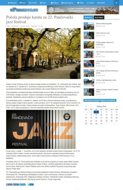 0110 - epancevo.rs - Pocela prodaje karata za 22. Pancevacki jazz festival