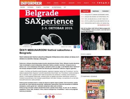 0210 - informer.rs - SESTI MEDJUNARODNI festival saksofona u Beogradu