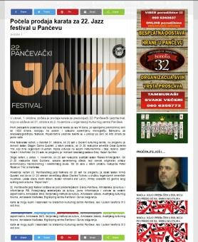 0210 - k-013.com - Pocela prodaja karata za 22. Jazz festival u Pancevu