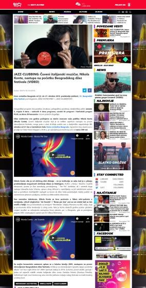 0310 - idjtv.com - JAZZ-CLUBBING- Cuveni italijanski muzicar, Nikola Konte, nastupa na pocetku Beogradskog dzez festivala