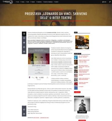 0310 - radiolaguna.rs - Predstava Leonardo Da Vinci. Skriveno delo u Bitef teatru