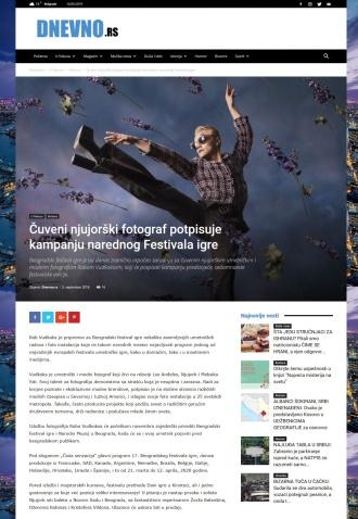 0509 - dnevno.rs - Cuveni njujorski fotograf potpisuje kampanju narednog Festivala igre