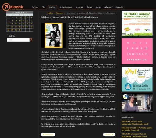 0710 - izlazak.com - Gala koncert sa gostima iz Italije u Operi i teatru Madlenianum