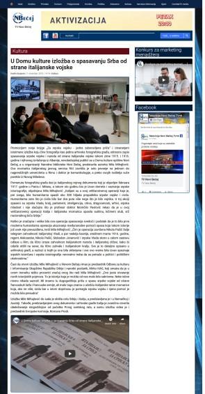 0711 - tvnovibecej.rs - U Domu kulture izložba o spasavanju Srba od strane italijanske vojske