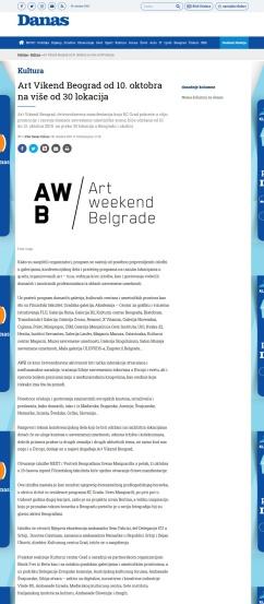 0810 - danas.rs - Art Vikend Beograd od 10. oktobra na vise od 30 lokacija