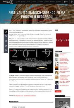 0909 - radiolaguna.rs - Festival italijansko-srpskog filma ponovo u Beogradu