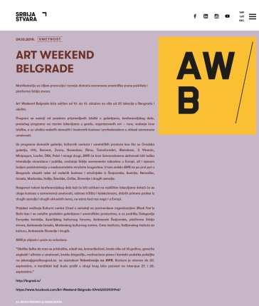 0910 - serbiacreates.rs - Art Weekend Belgrade