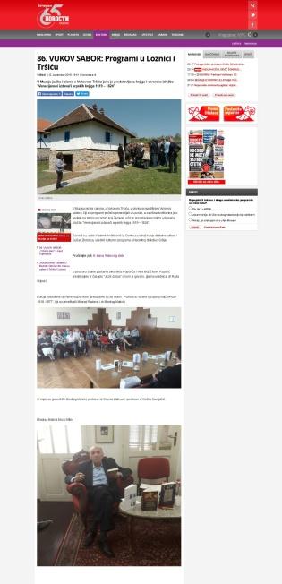 1209 - novosti.rs - 86. VUKOV SABOR- Programi u Loznici i Trsicu